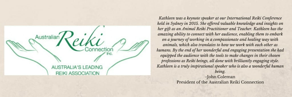 testimonial for kathleen prasad by the president of australian reiki connection